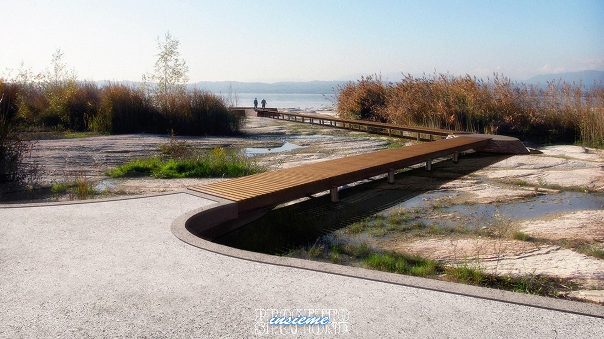 Progetto Sirmione Insieme_progetto passeggiata lungo lago Sirmione