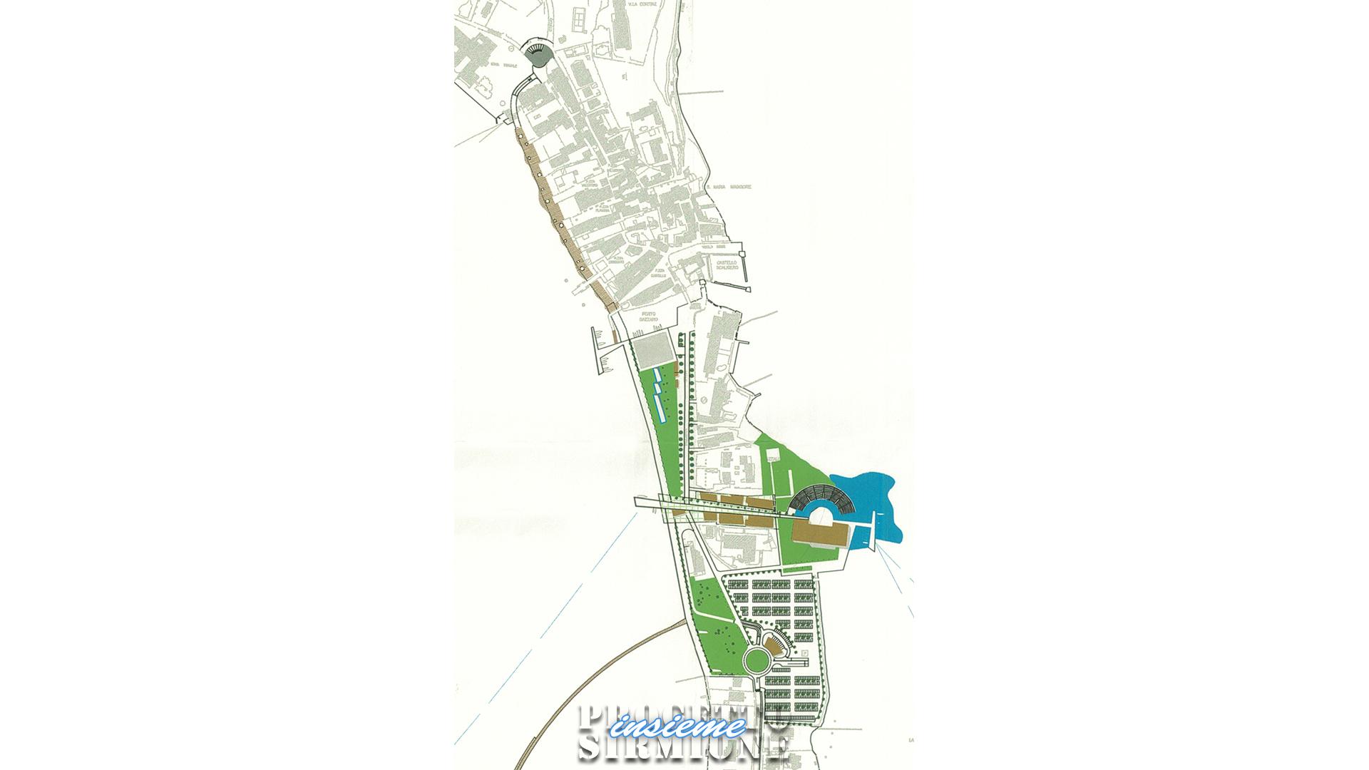 Progetto Sirmione Insieme_progetto ponte pedonale come secondo accesso per Sirmione