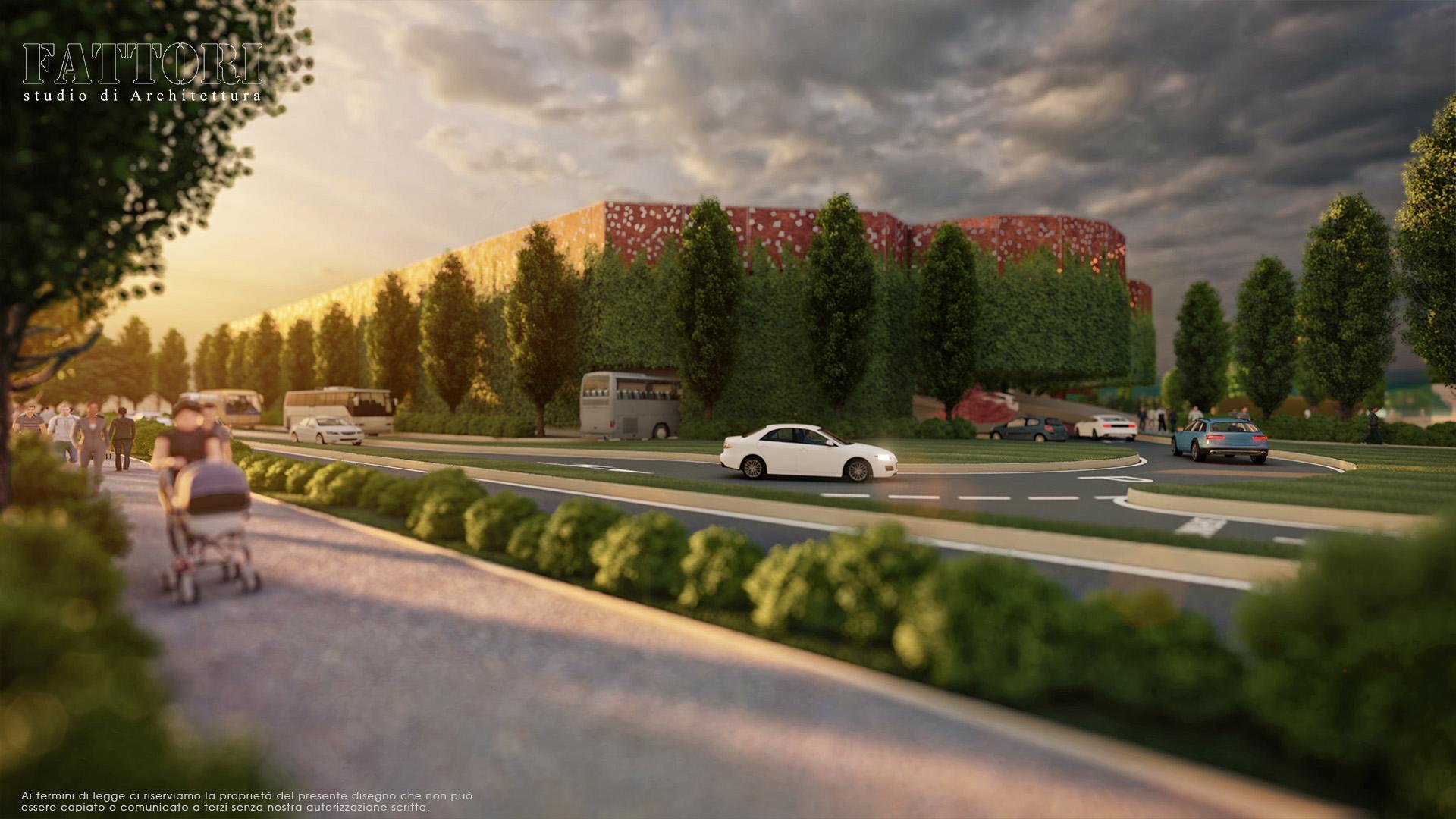 Studio di Architettura Fattori Fausto - Parcheggio Sirmione Multipiano Progetto 3