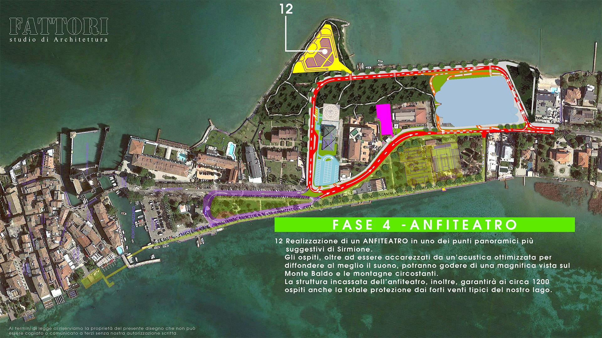 Studio di Architettura Fattori Fausto - Viabilità Sirmione il progetto - Fase 4 Anfiteatro Sirmione