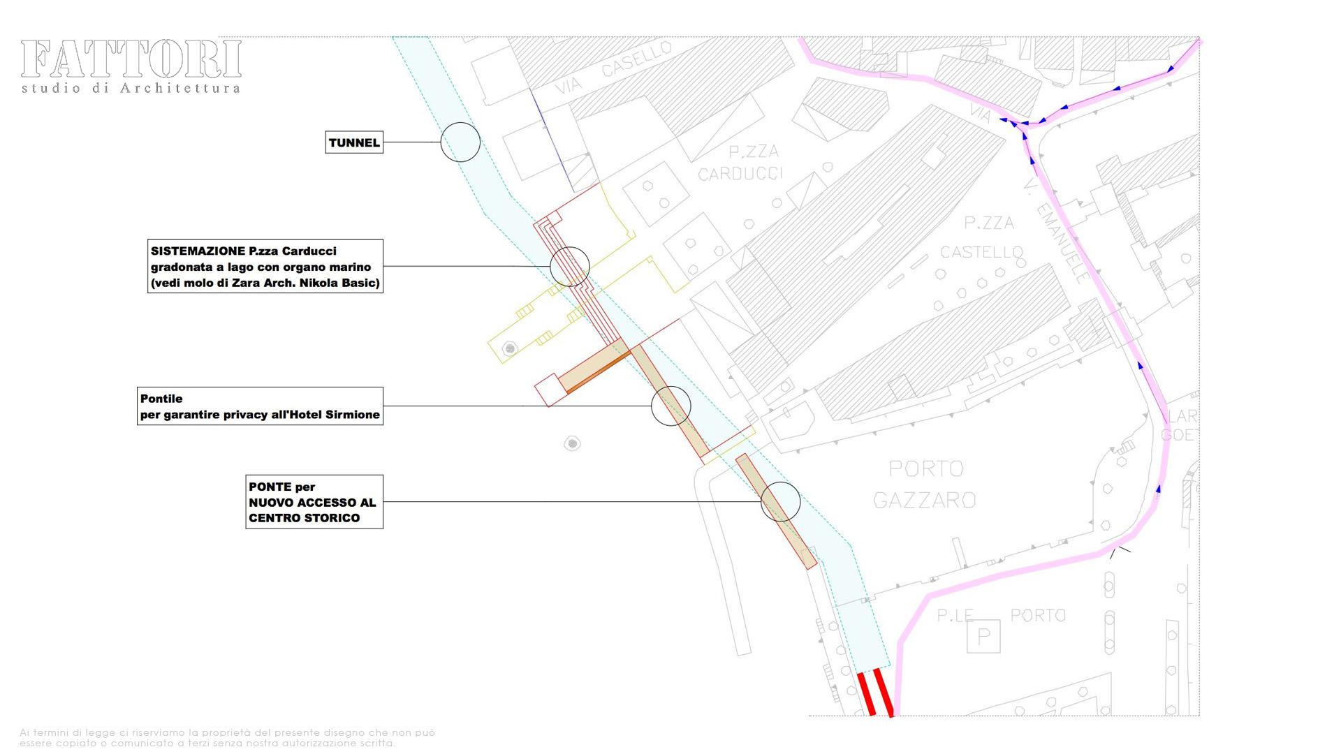 Studio di Architettura Fattori Fausto - Viabilità Sirmione il progetto - Tunnel sotto lago di garda