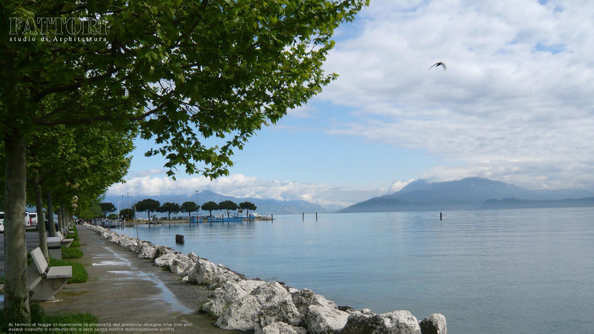 Studio di Architettura Fattori Fausto - Viabilità Sirmione il progetto - lungo lago Parcheggio Monte Baldo Sirmione